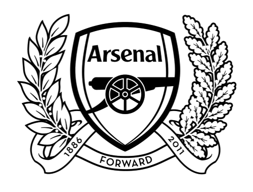 arsenal logo black and white vector