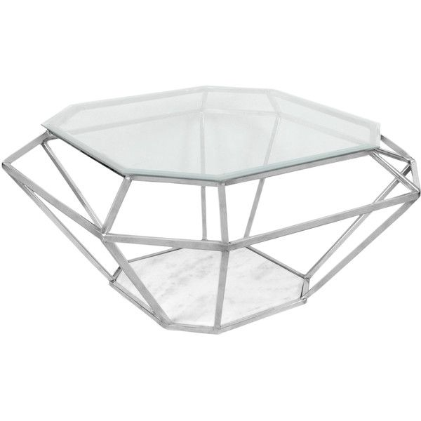 Horizon Diamond Coffee Table 397 Liked On Polyvore Featuring