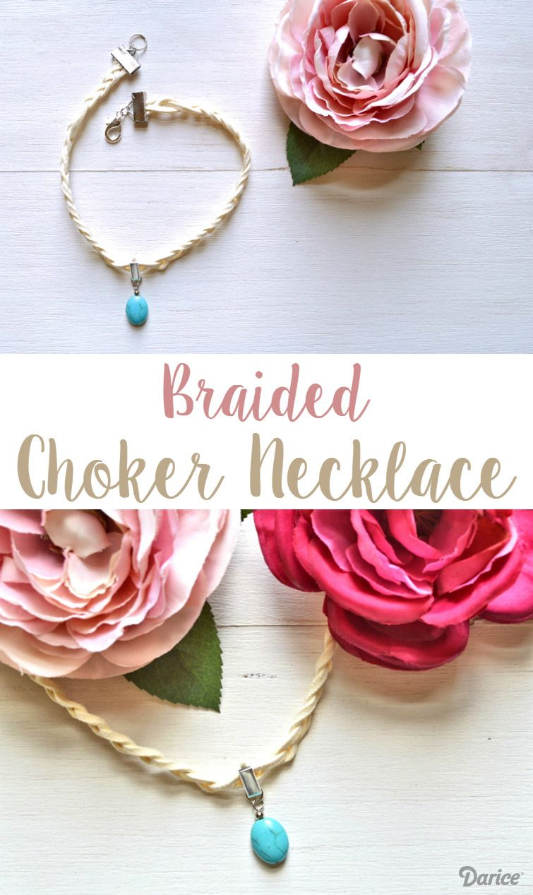 Diy Choker Necklace Braided Suede Darice Patterns Tutorials Kim Angelica Chocker Hole Dress Broken White Complete Your Summer Look With This Easy Because Has Many Different Colors Of Cord Its So To Customize