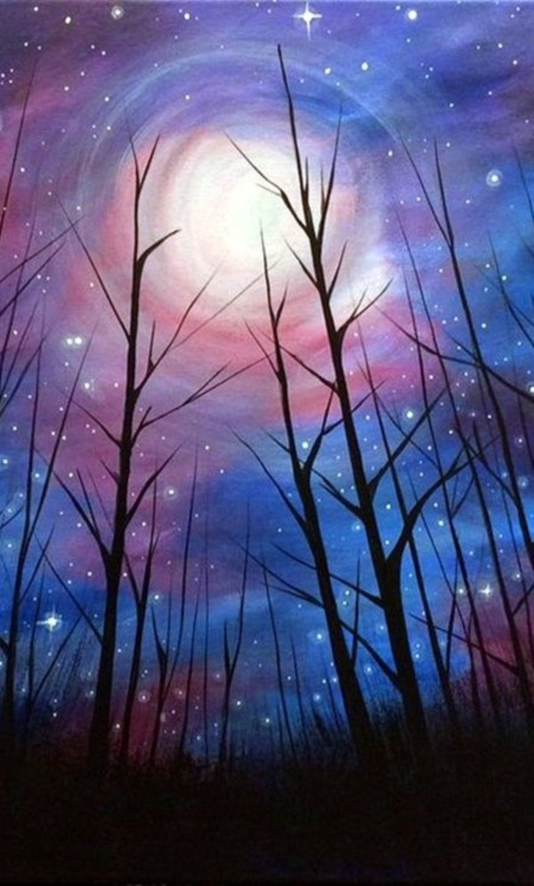 125 Easy Acrylic Painting Ideas For Beginners To Try In 2020 With Images Acrylic Painting Trees Beginner Painting Simple Acrylic Paintings