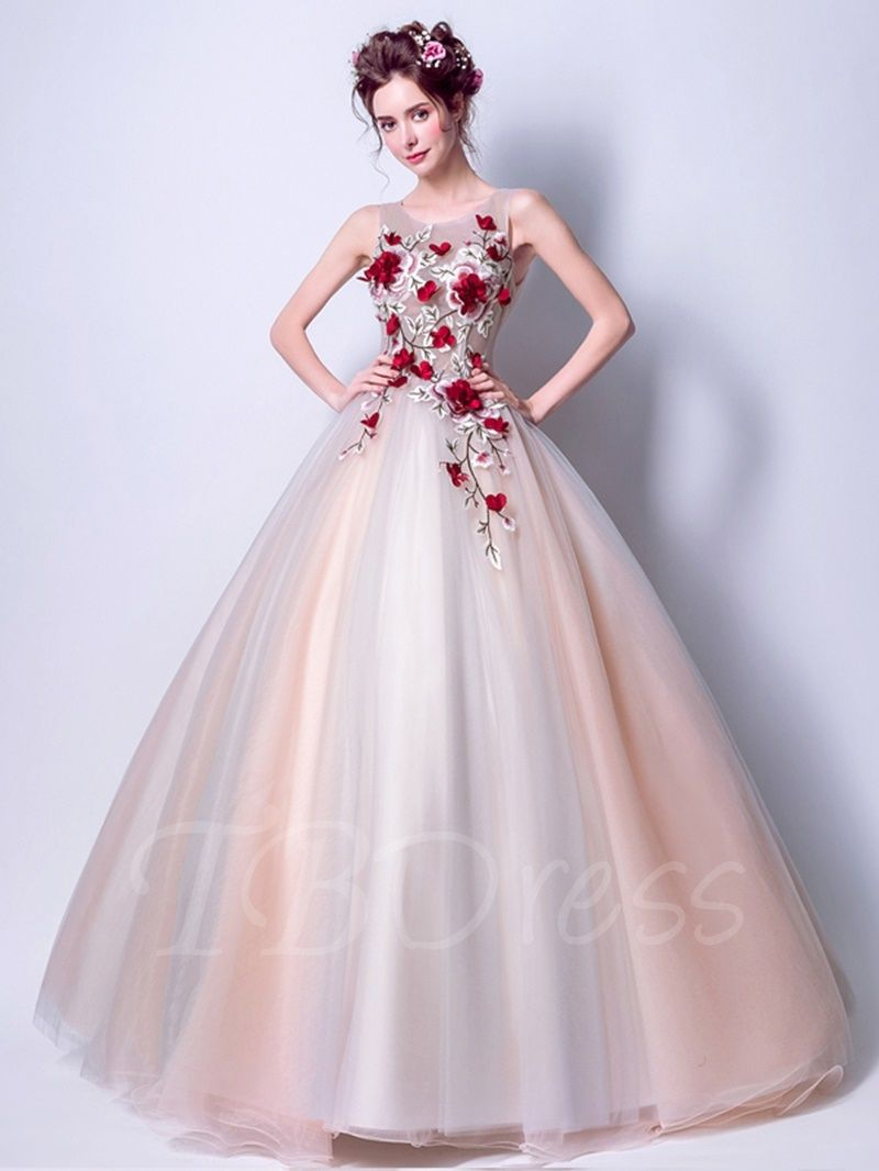 30b4210c016 Tbdress.com offers high quality Ball Gown Embroidery Floor-Length  Quinceanera Dress Ball Gowns unit price of   155.99.