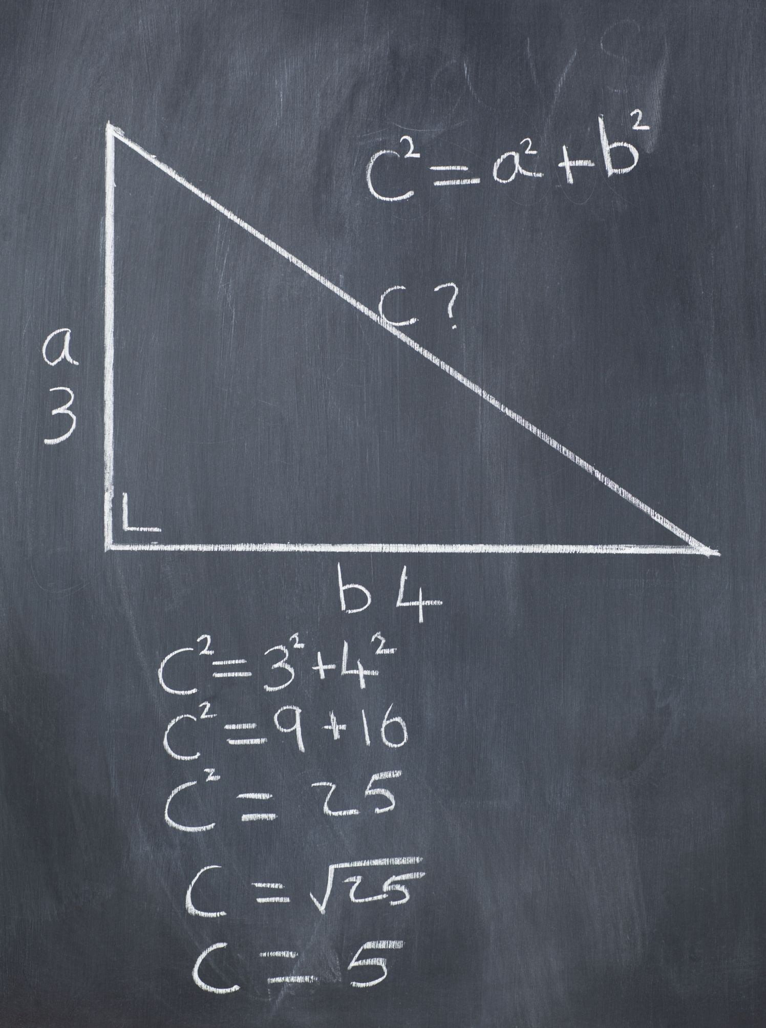 How to Calculate Hypotenuse Right triangle, Triangle