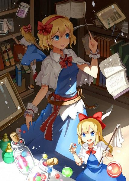 alice using magic and dolls to get things done 2019 アニメ イラストアート 女の子の絵