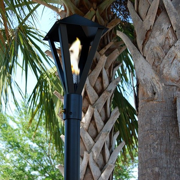 Big Kahuna Gaslight Propane / Natural Gas Tiki Torch   (Permanent Or  Portable) Mount