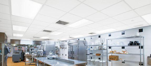 Armstrong Ceramaguard Non Perforated Ceiling Tiles Restaurant