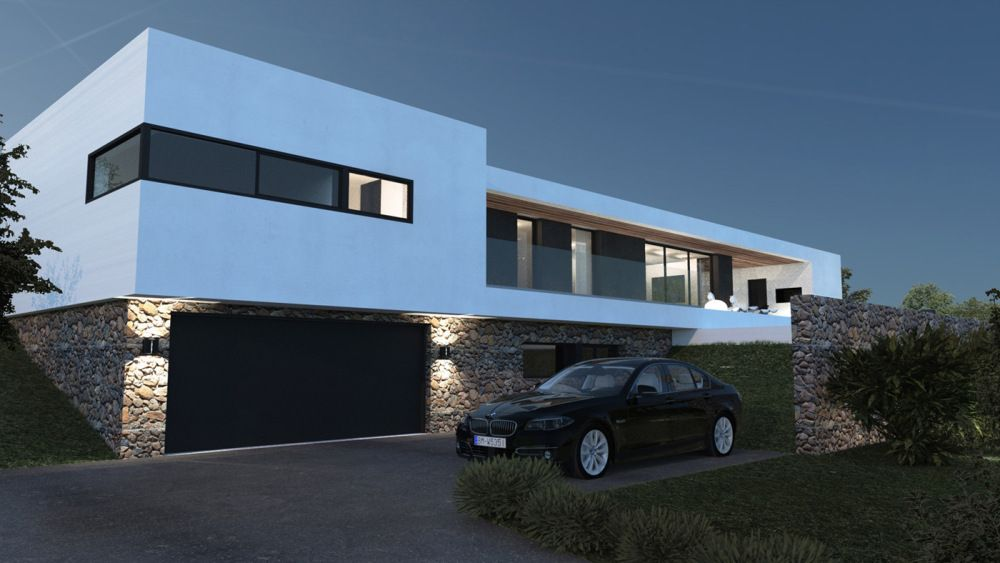 Maison contemporaine architectes a2 sb