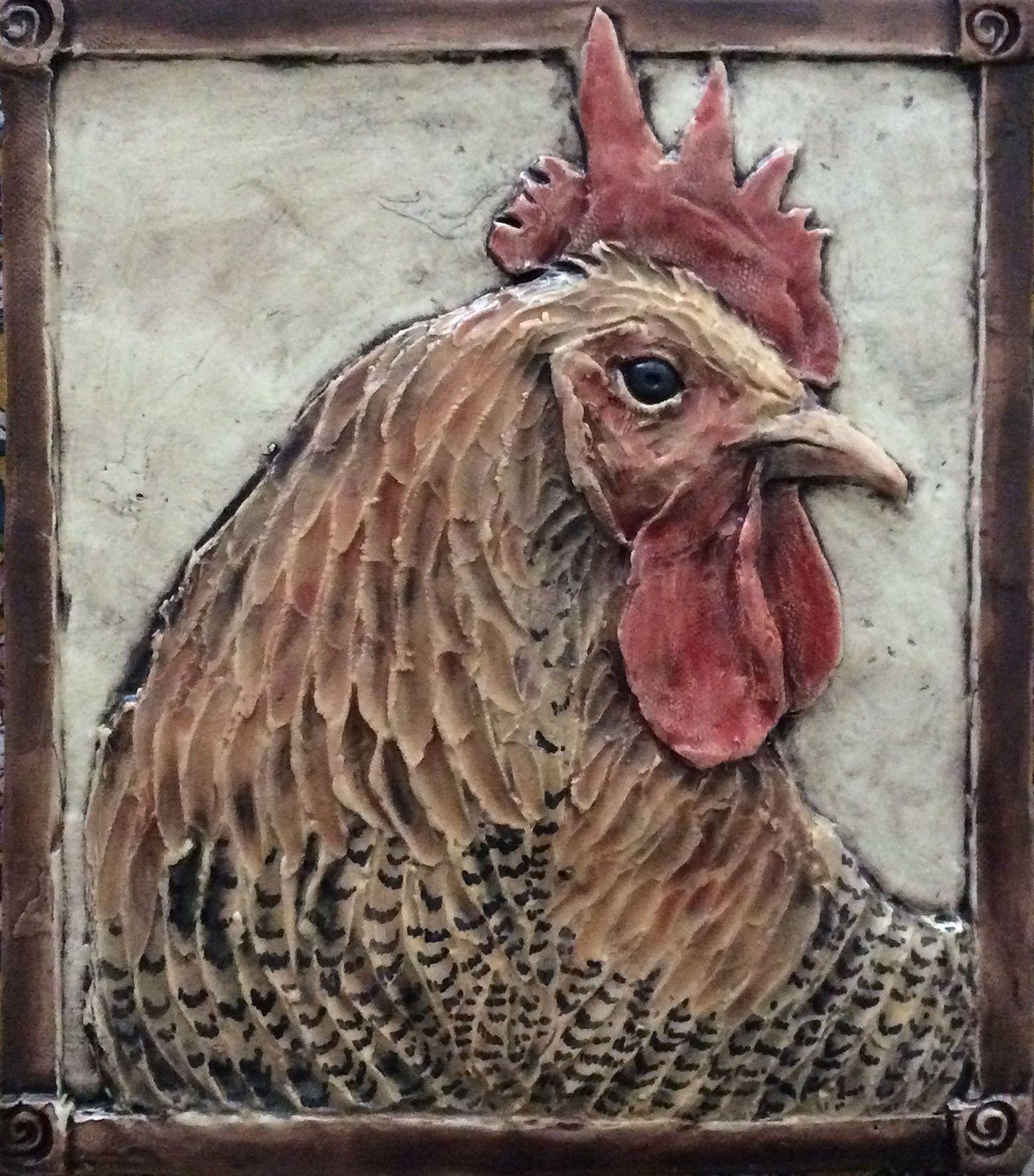 - Handcrafted Rooster Tile For Kitchen/bathroom Backsplash 8.5