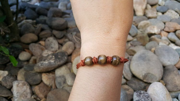 Brown Korean knot bracelet Asian knot bracelet by dreamcraftart