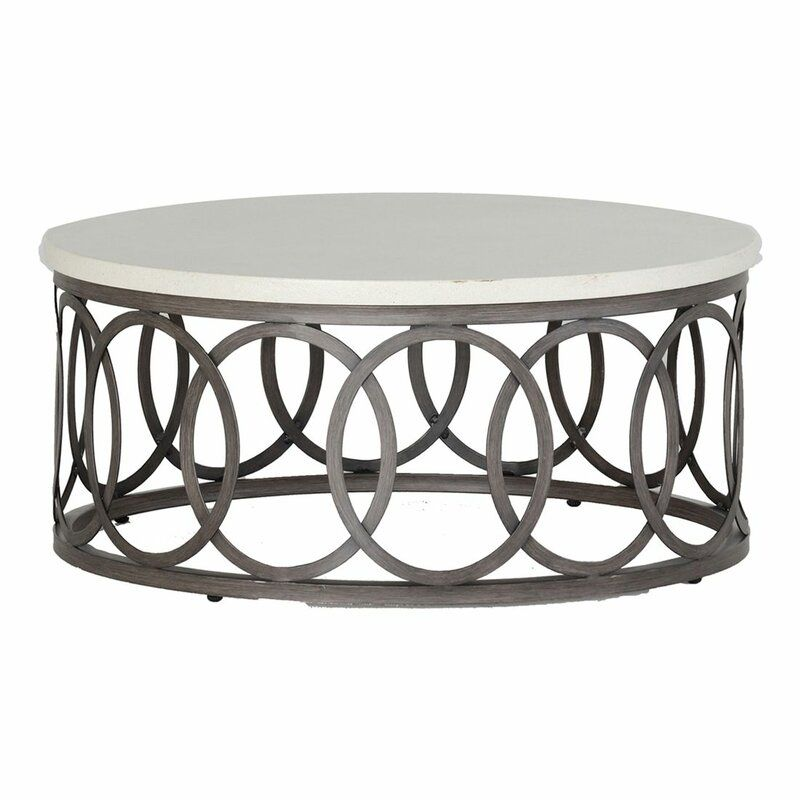 Ella Stone Concrete Coffee Table Outdoor Coffee Tables Coffee