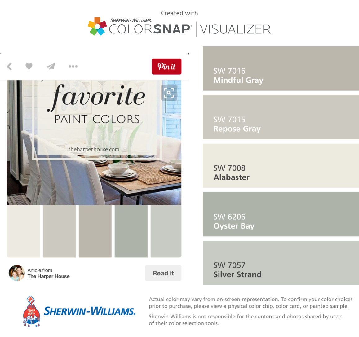Mindful Gray Kitchen: I Found These Colors With ColorSnap® Visualizer For IPhone By Sherwin-Williams: Mindful Gray (SW