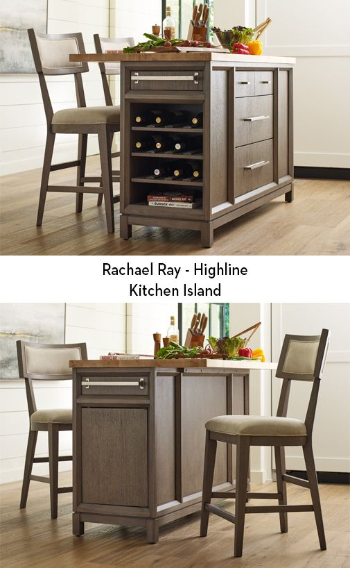 The Highline Kitchen Island Rachael Ray S Furniture Is Characterized By It Inviting And Relaxed Design 3