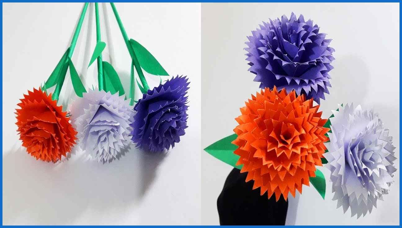 How To Make China Rose Paper Flower Easy Origami Flowers For Easy Origami Flower Paper Flowers Origami Easy