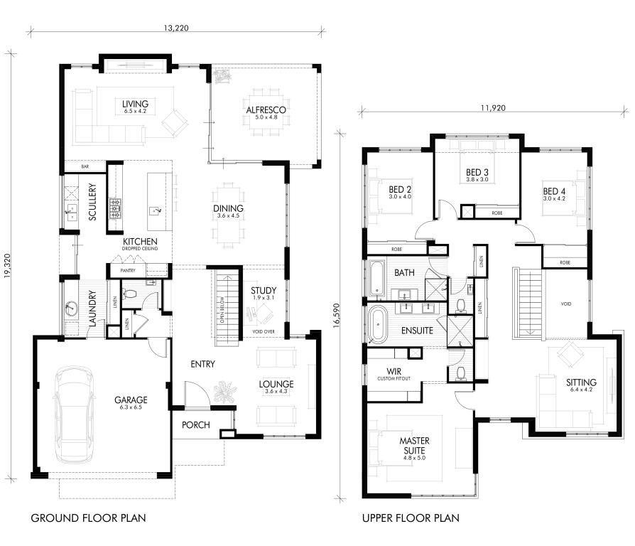 Http Www Wbhomes Com Au Sites Default Files Home Design Floorplan Aura 20floorplan Jp House Plans Australia Double Storey House Plans House Construction Plan