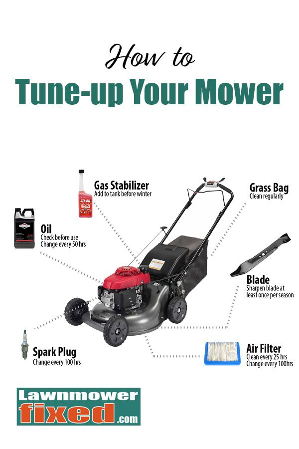 Lawnmower Tune Up Guide How Much Oil Does A Lawnmower Take Lawn Mower Repair And Maintenance Lawn Mower Repair