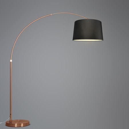 bogenleuchte xxl kupfer mit schirm schwarz wundersch ne bogenleuchte in kupfer mit einem. Black Bedroom Furniture Sets. Home Design Ideas