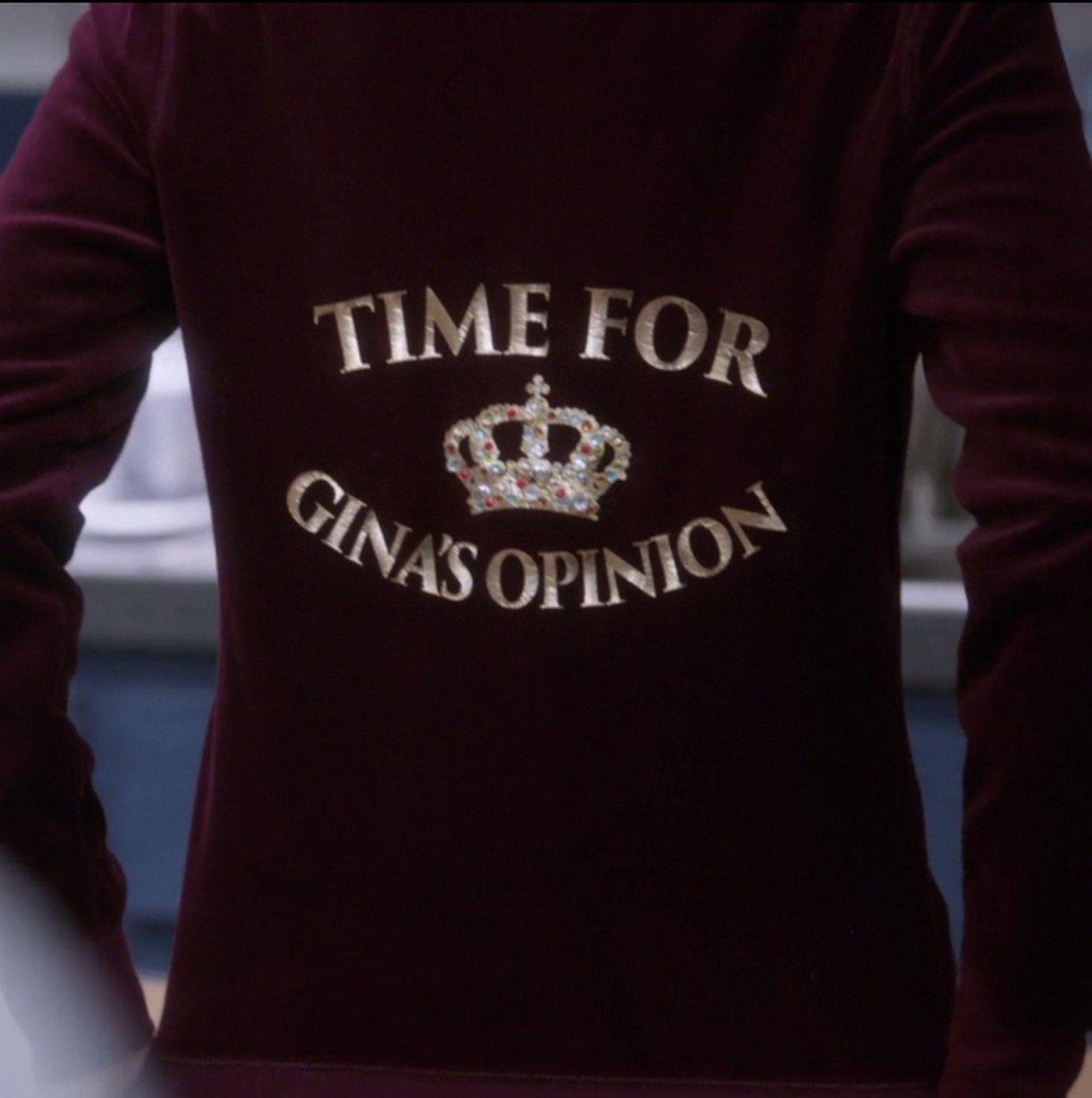 29777e701 Brooklyn 99 Sweater - Brooklyn Nine Nine Hoodie - Time for Gina's Opinion Hooded  Sweatshirt - Gina Linetti Quote Shirt - B99 Shirt - NYPD
