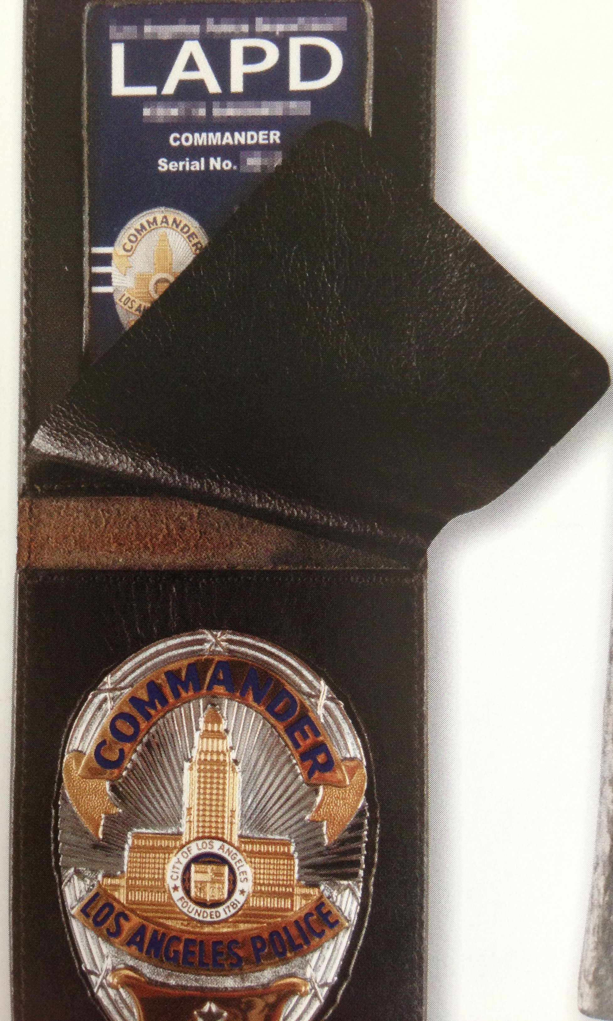 COMMANDER - SUN BADGE CO  WITH CURRENT ISSUE IDENTIFICATION CARD IN