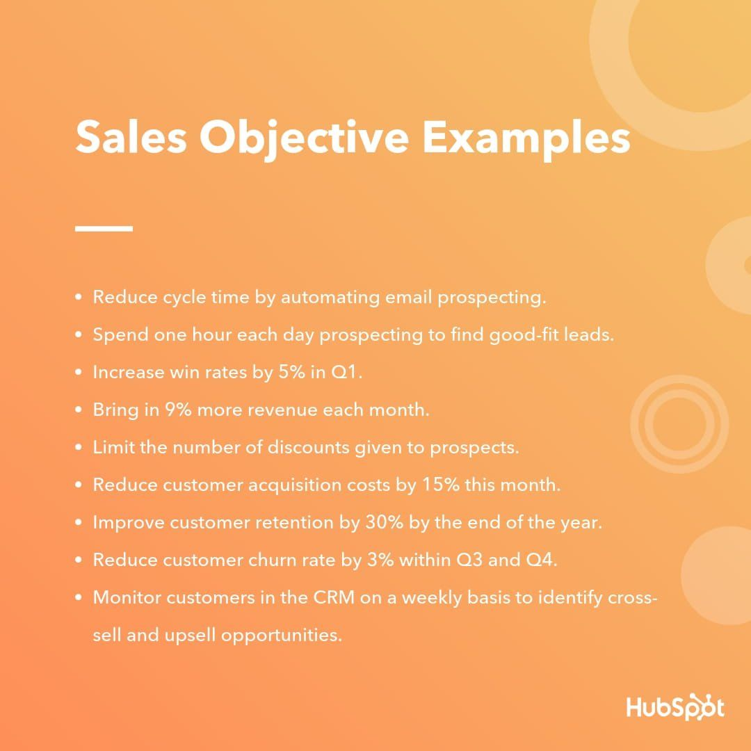 The 9 Most Important Types of Sales Objectives [+Examples