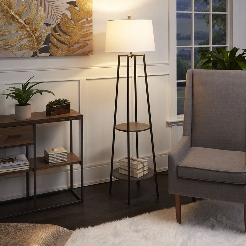 Bart Floor Lamp with Shelves (With images) Floor lamp