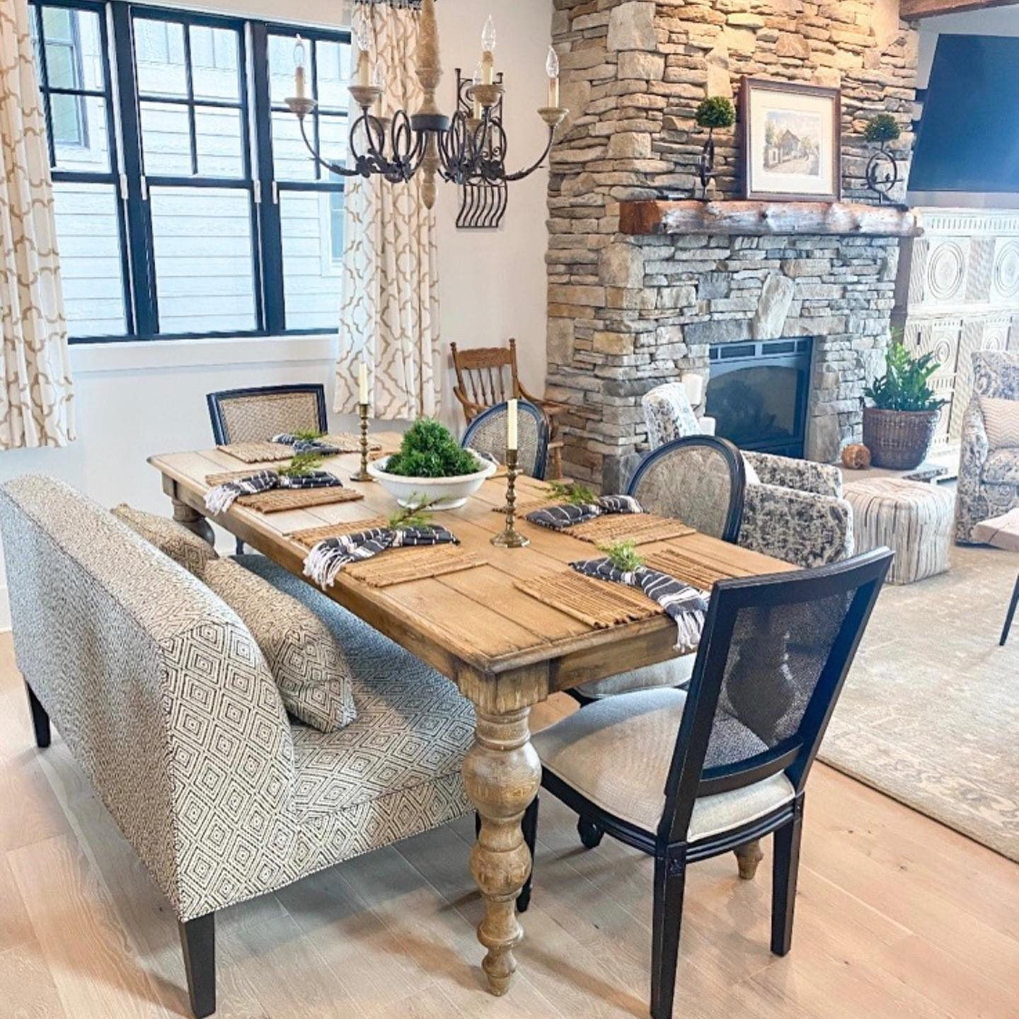 A Dramatic Handcrafted Statement With Substantial Baluster Legs Each Rustic Francis Dining Table Is Artisan Bui In 2020 Dining Room Sets Dining Room Furniture Dining