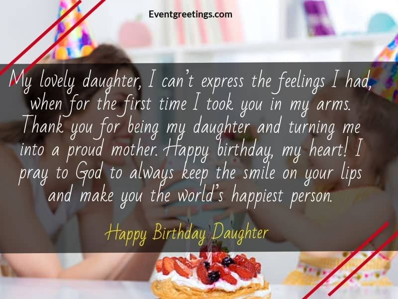 50 Wonderful Birthday Wishes For Daughter From Mom Wishes For Daughter Birthday Wishes For Daughter Birthday Message For Daughter