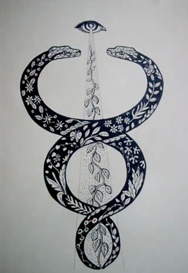Titon Cabrera Gongora Twisted Snakes Alchemical Mystical Tattoo