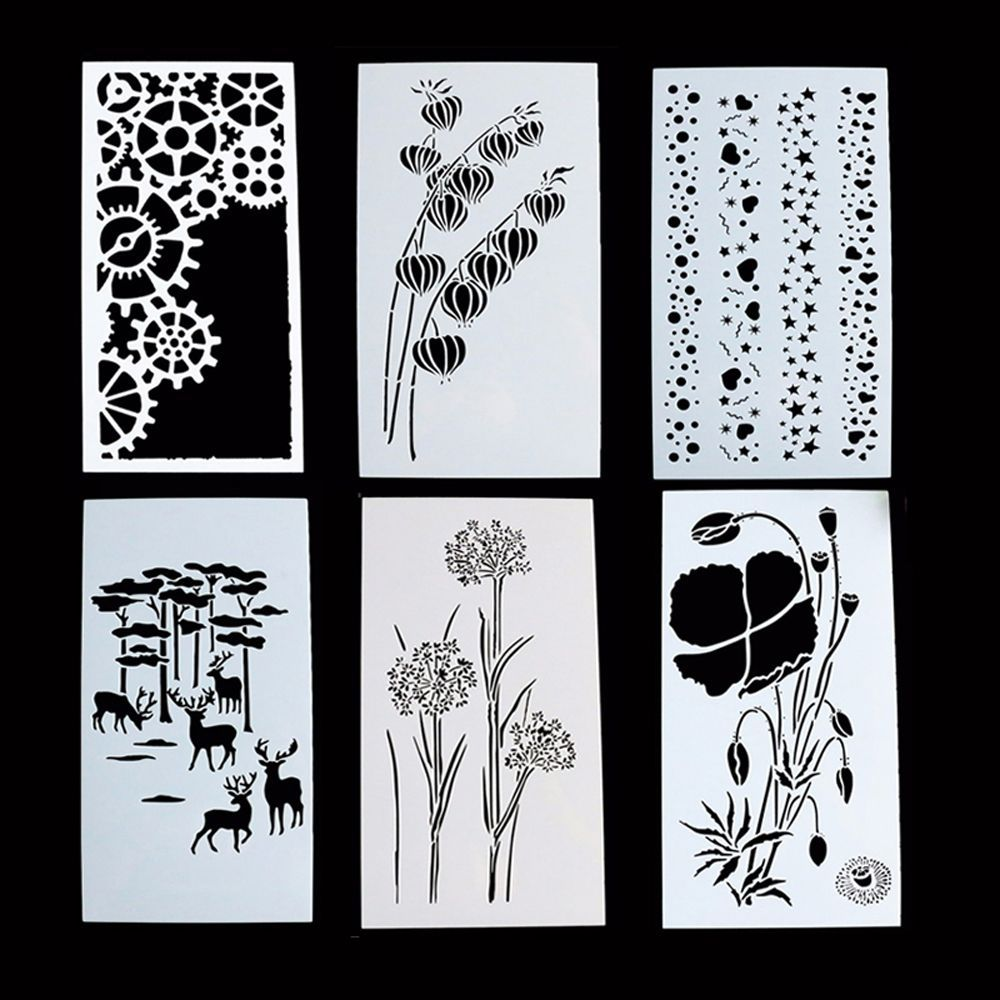 Reusable flowers Stencil Airbrush Art DIY Home Decor Scrapbooking Album Craft E/&