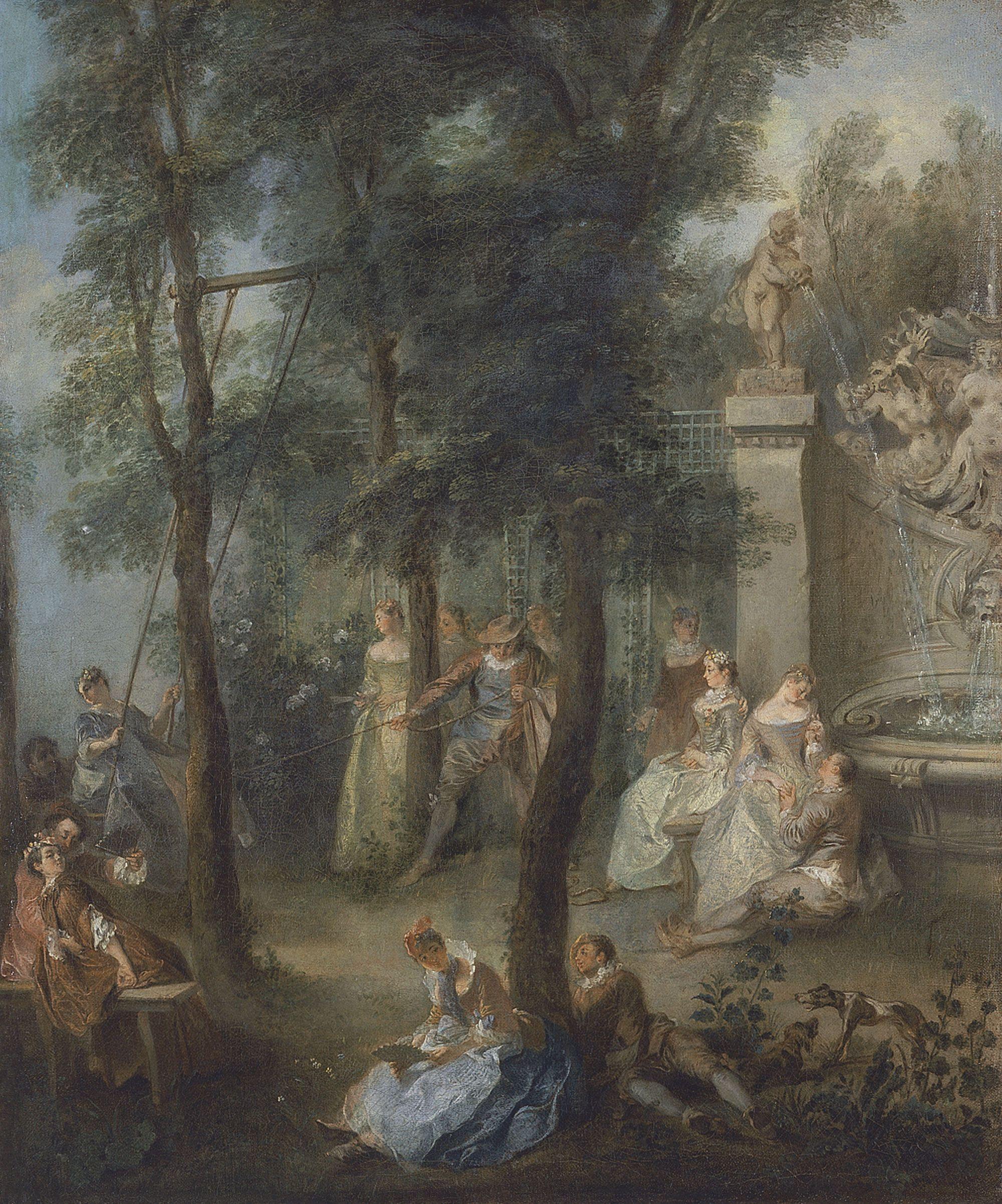 Nicolas Lancret, The Swing, ca. 1735-40 (Museo Thyssen-Bornemisza)