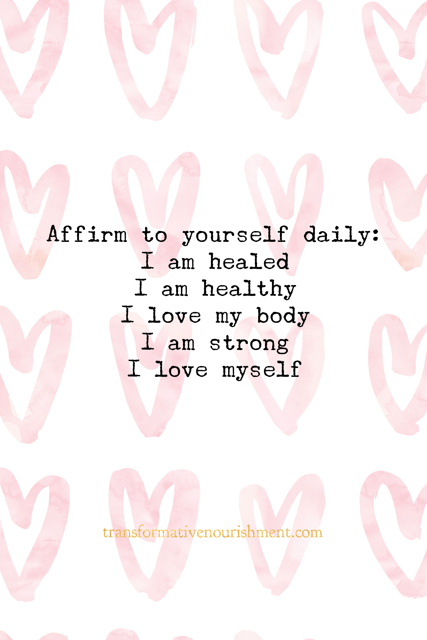 5 positive daily affirmations to repeat What does your self talk look like Health wellness self talk affirmations mantra emotional well being mental health nutrition self...