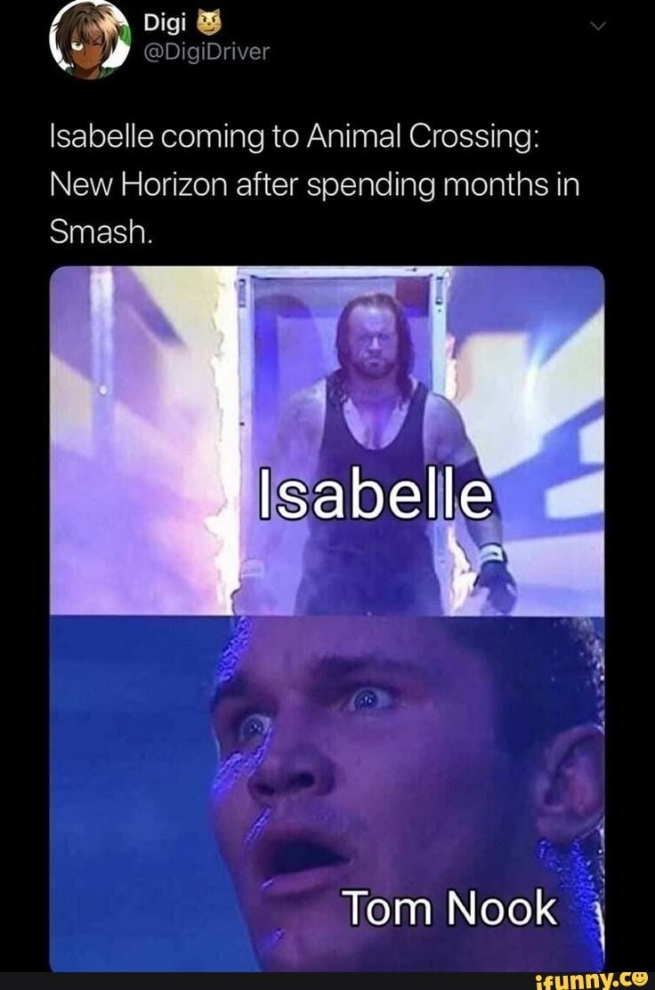 Isabelle Coming To Animal Crossing New Horizon After Spending Months In Smash Ifunny In 2020 Animal Crossing Funny Animal Crossing Game Animal Crossing Memes