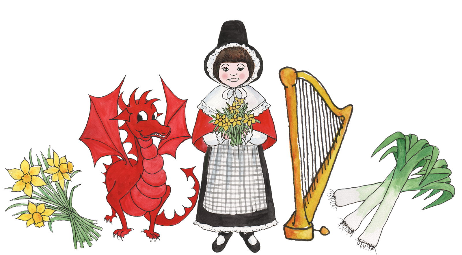 Image result for st davids day costume cartoon