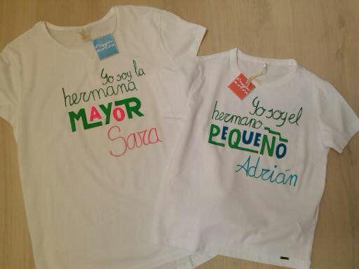 8c7f75539 Camiseta para hermana- hermano