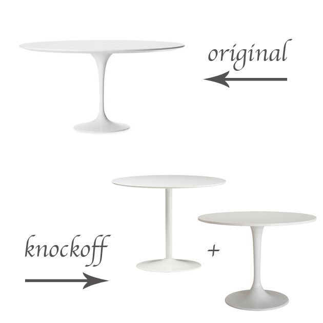 Original Vs Knockoff Saarinen Table