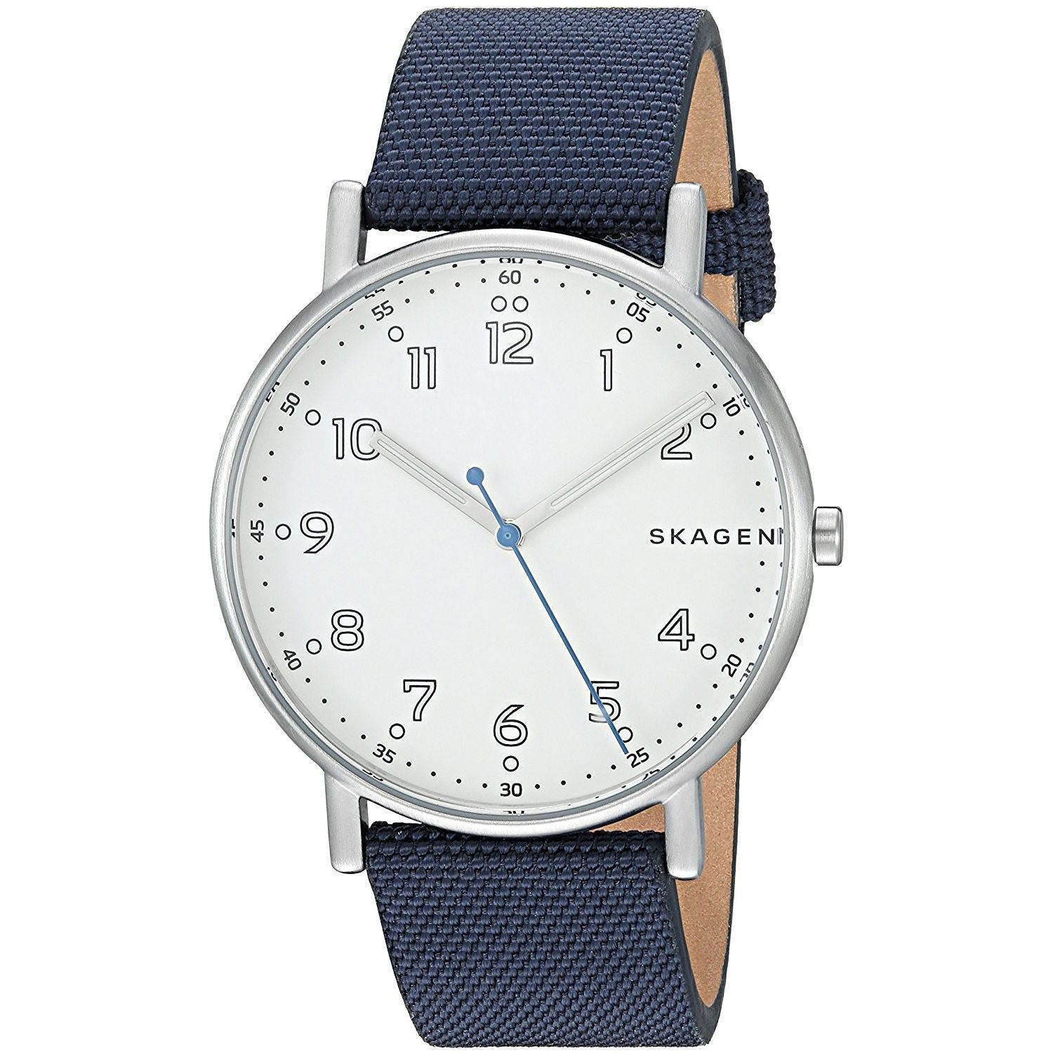 4f50e61aa5466 Skagen Men s SKW6356  Signatur  Blue Nylon and Leather Watch ...