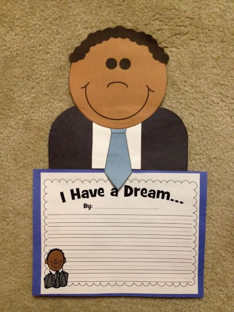 I had a DreamCraftivity! January, Minis and Social studies - copy coloring pages of dr martin luther king jr