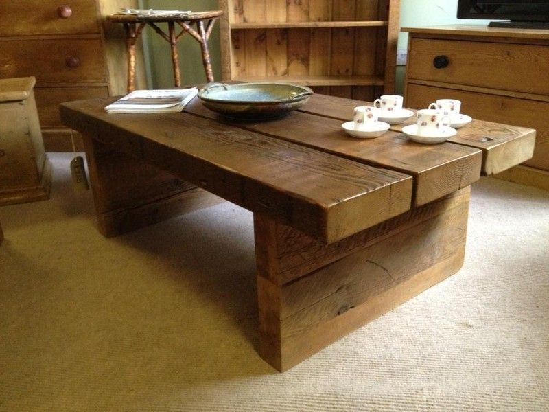 Beau Coffee Table:CHUNKY PLANK COFFEE TABLE Wood Plank Coffee Table Diy  Marvelous Plank Coffee Table