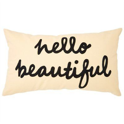 Hello Beautiful Pillow Pillows Indigo Blue Throw Pillows
