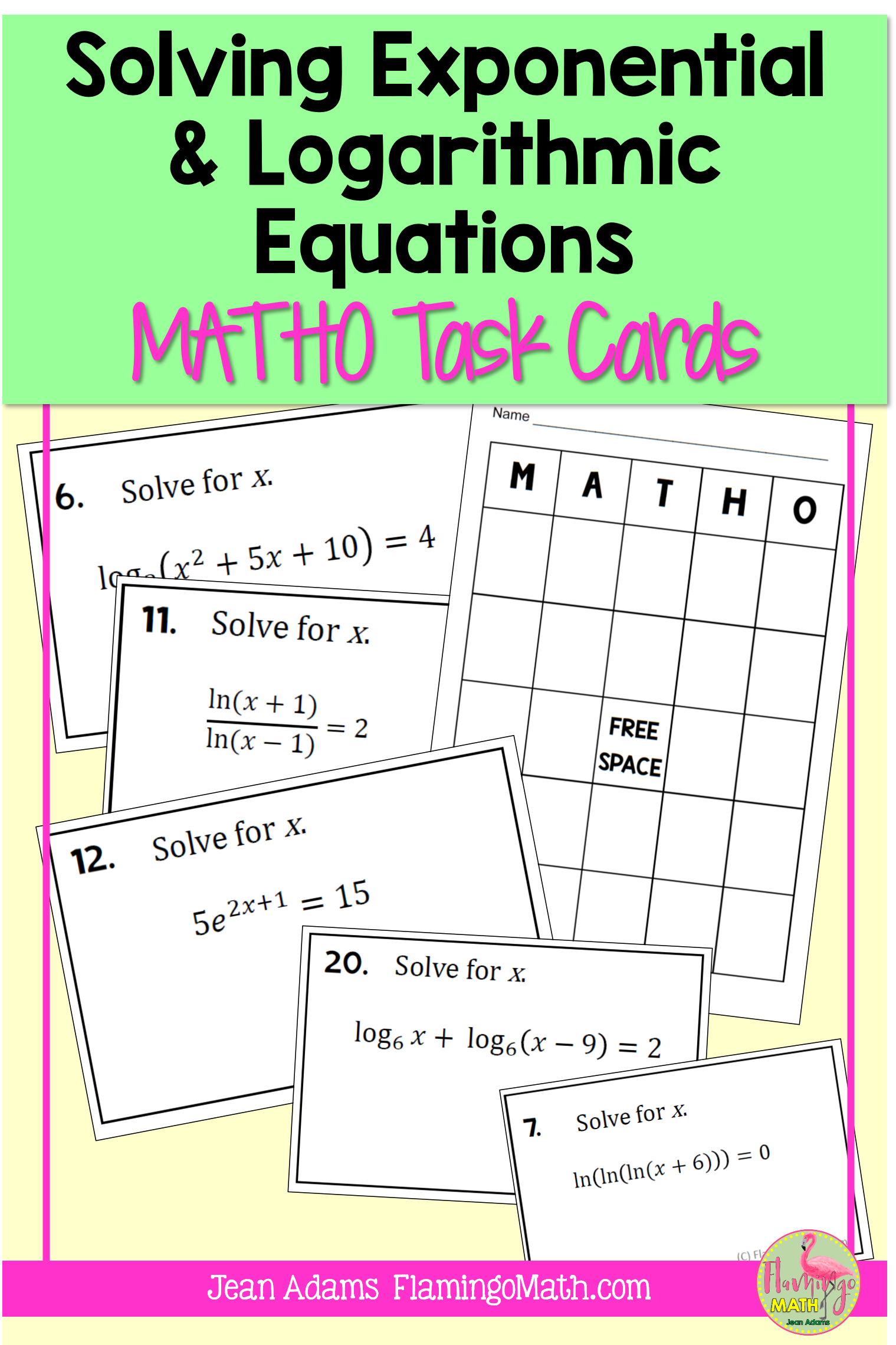 Pin On Jean Adams Flamingo Math Tpt Store