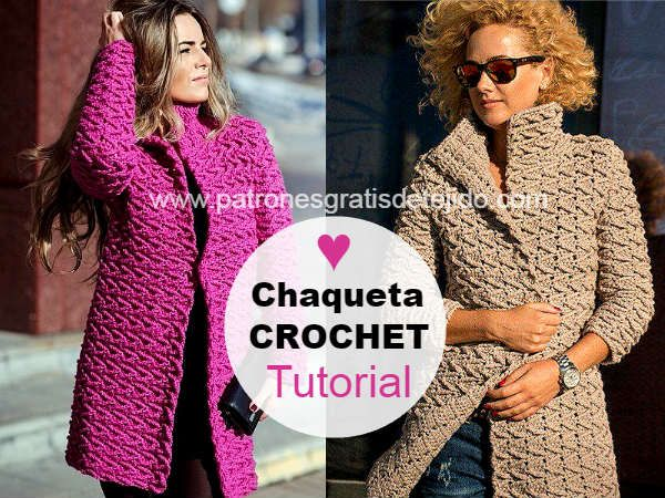 Cardigan tejido a crochet con tutorial en video | lanas | Pinterest ...