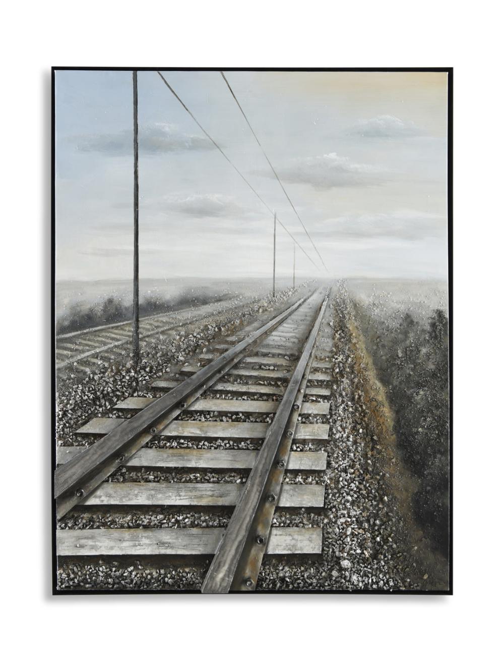Railroad Tracks Canvas Art | HOM Furniture | Canvas art ...