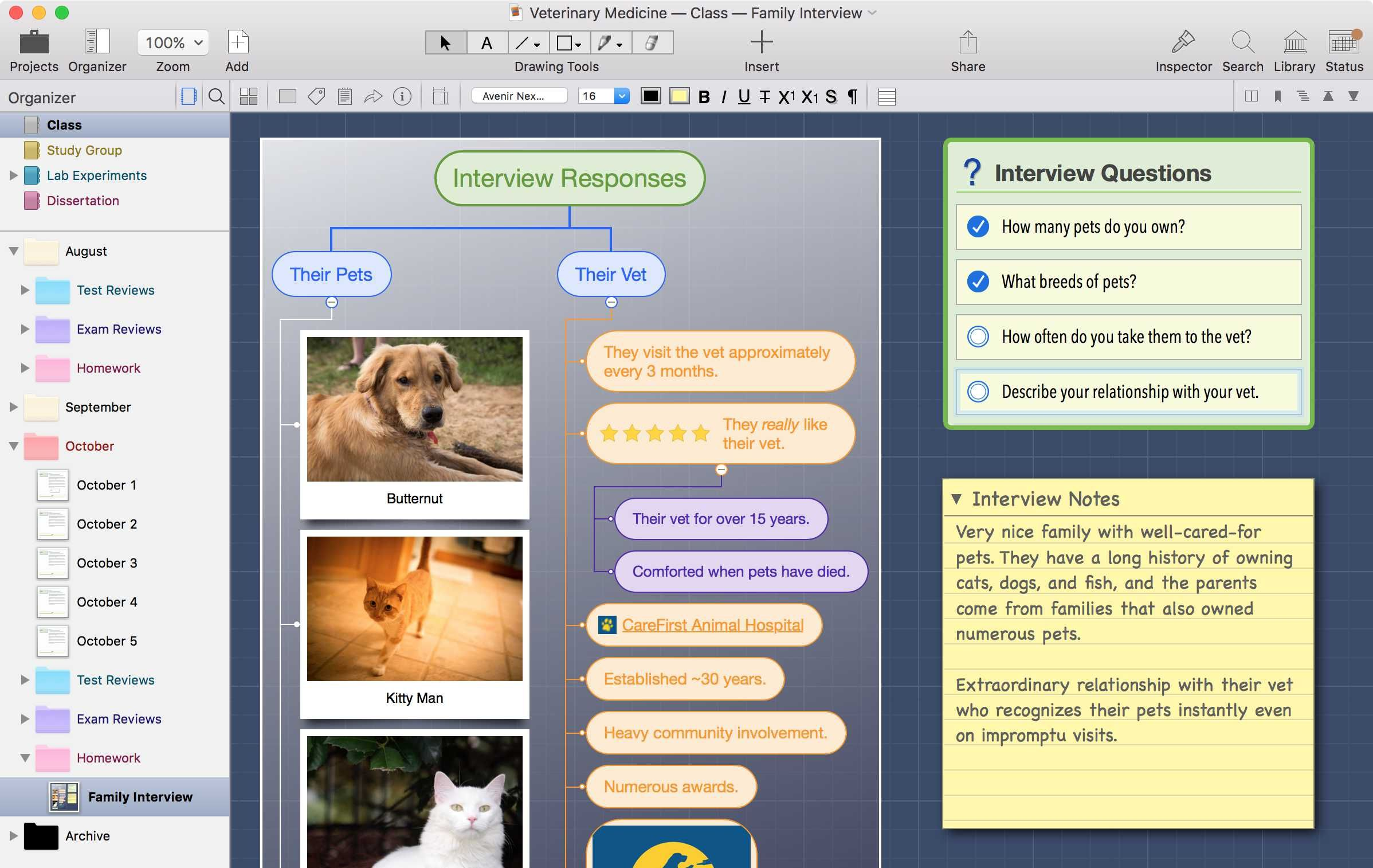 zengobi curio note taking mind mapping brainstorming and task management for mac os x - Osx Mind Mapping