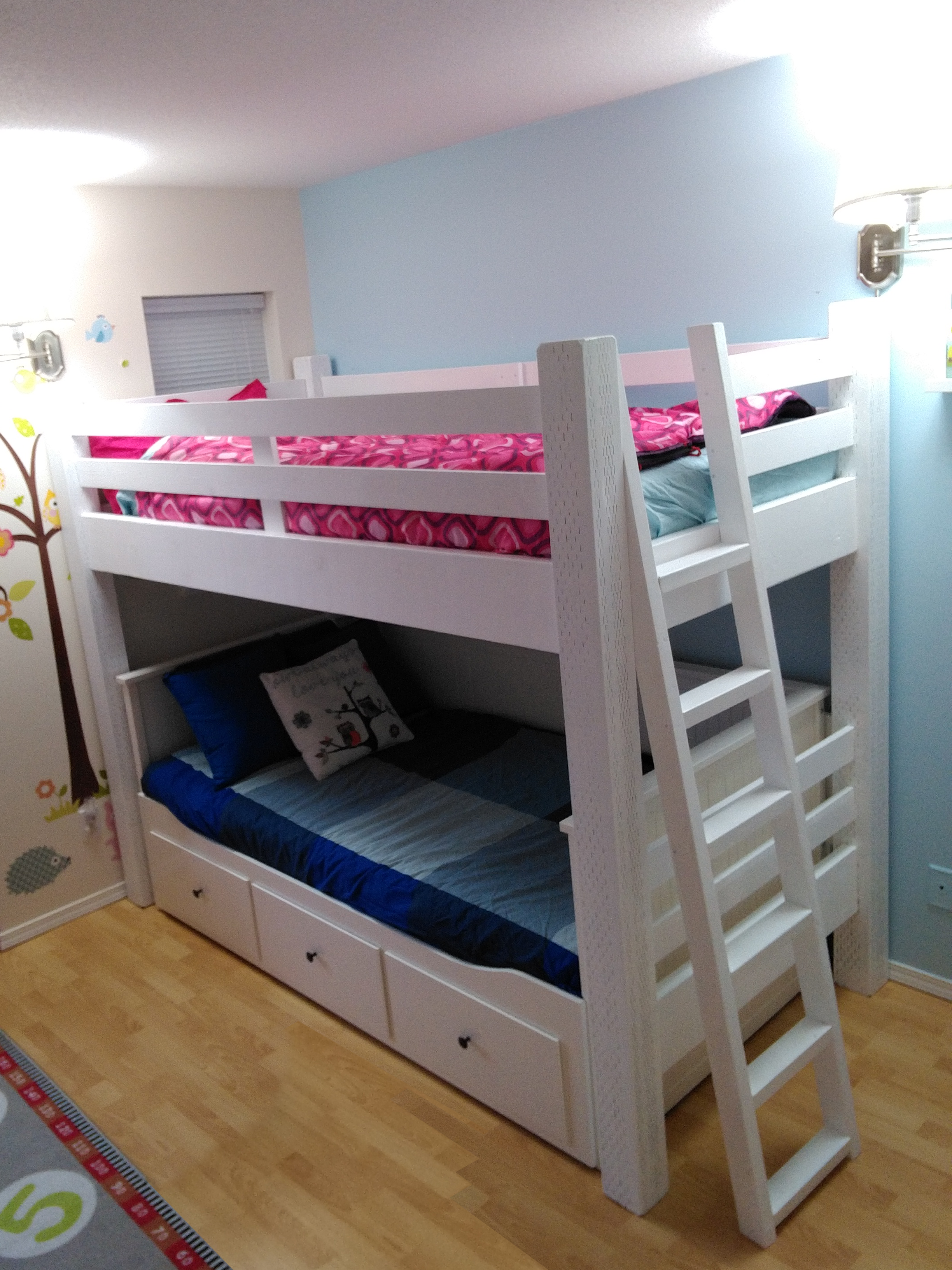 Custom Loft Bed Built To Wrap The Ikea Hemnes Daybed Kids Room