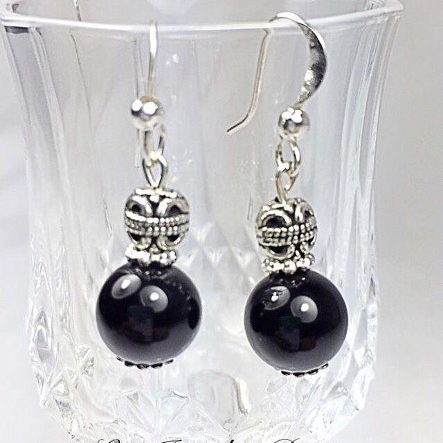 Black onyx earrings https://goo.gl/94O75V