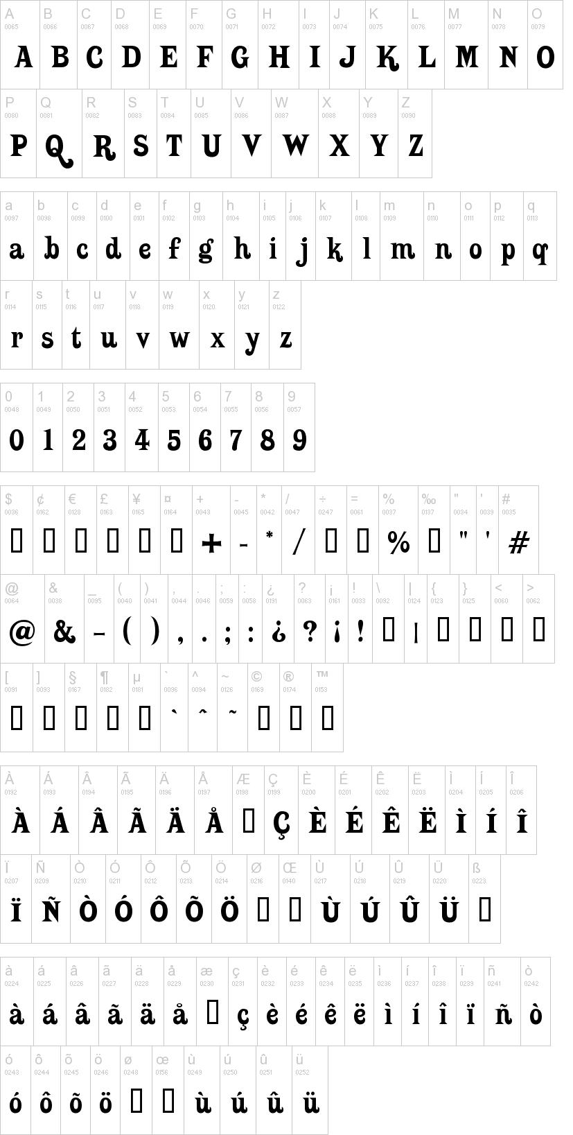 Putain font (free version of Hopeless Heart) for Kingdom