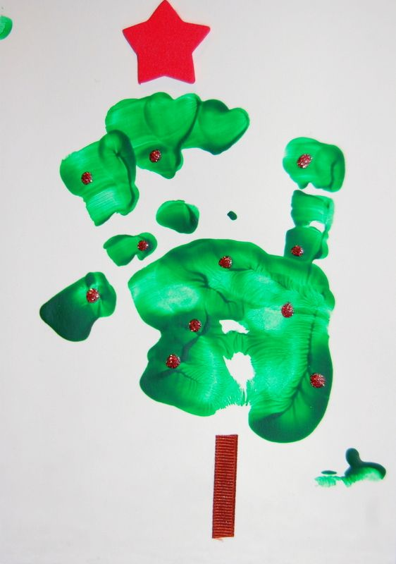 Christmas card crafts for kids - before there was Pinterest