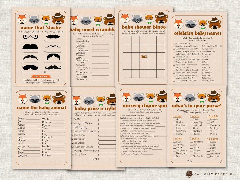 Mustache Baby Shower Games Mustache Shower Game Mustache Game