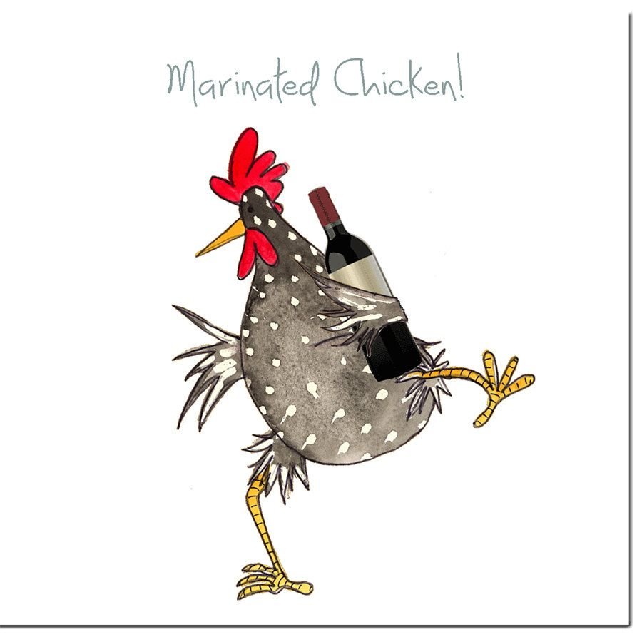 Bekannt Marinated Chicken Greeting Card - Funny Chicken Birthday Card  IG78