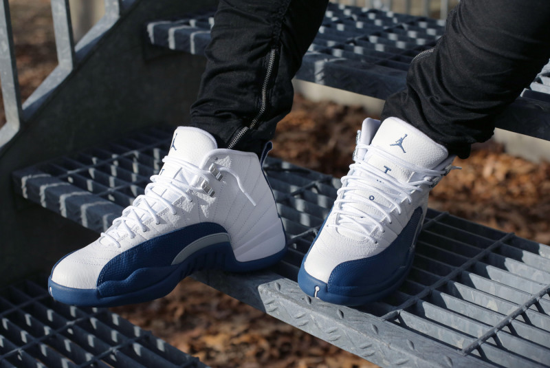 42fa566f32f On-Feet Images Of The Air Jordan 12 French Blue