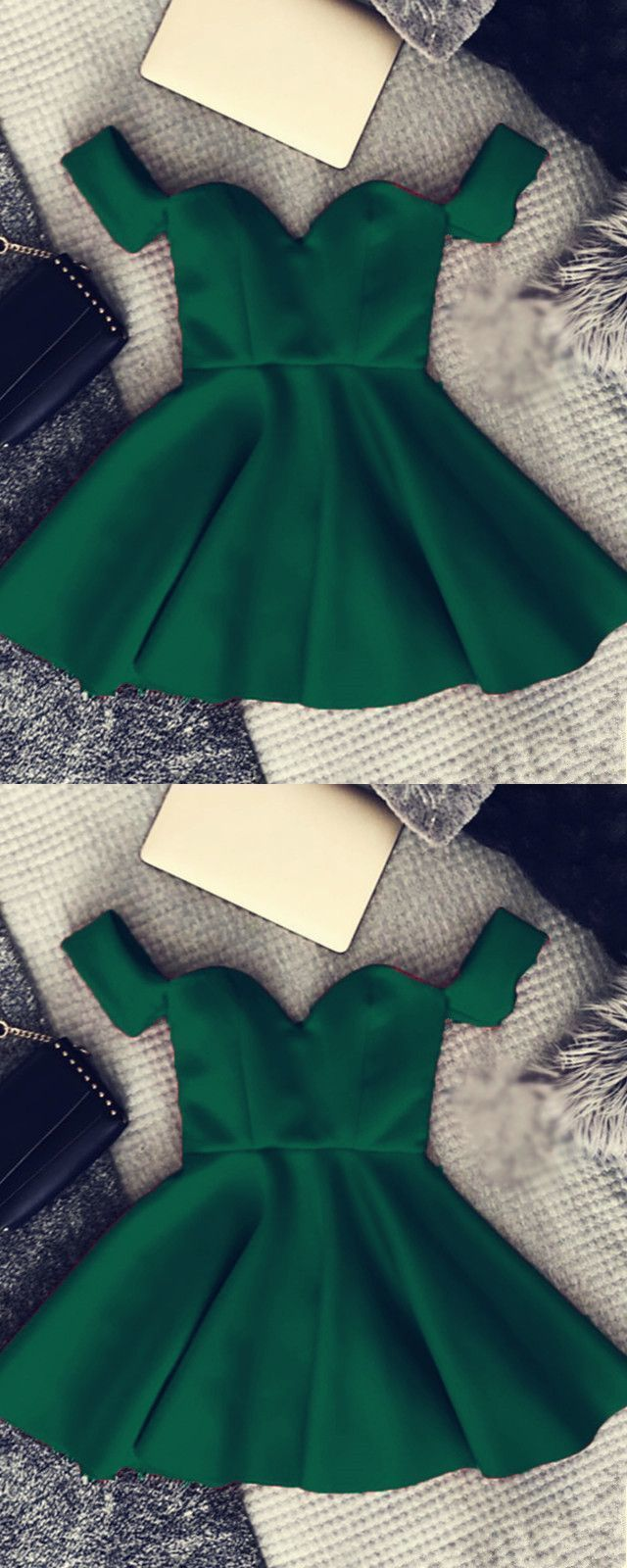 897 Simple Green Off The Shoulder Sweetheart Cap Sleeves Strapless Ruffles Satin Evening Dresses Green Homecoming Dresses Satin Evening Dresses Homecoming Dresses [ 1600 x 640 Pixel ]