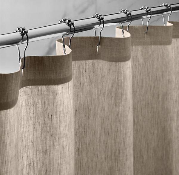 les rideaux en lin naturel simbolisent le confort et llgance la maison archzinefr rideau douchesalle de bain - Rideau Salle De Bain Tissu
